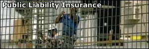 Men working with public liability insurance